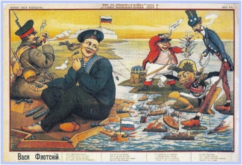 A contemporary Russian cartoon of the war