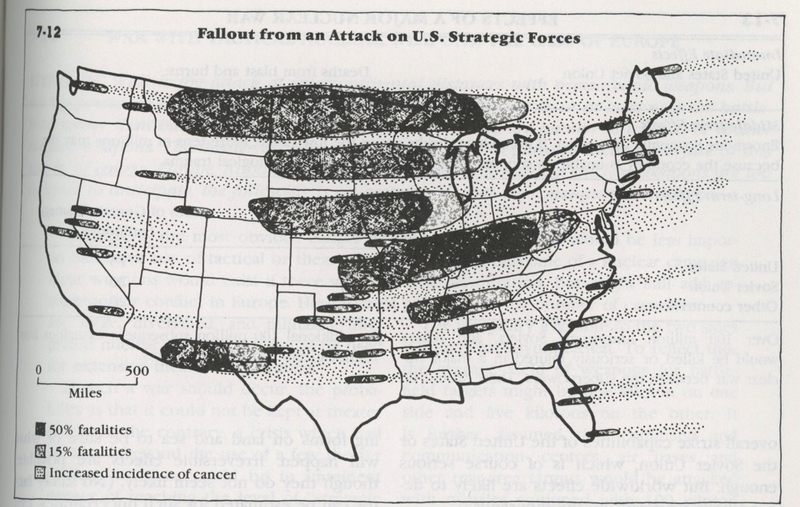 Nuclear War Radioactive Fallout And The Earths Global Ecosystem - Nuclear fallout map us