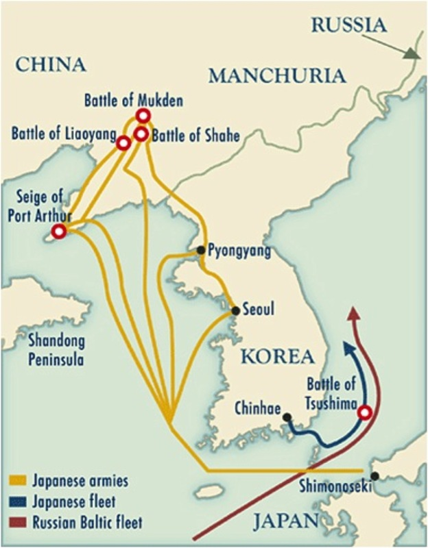 Russo-Japanese War Battle Maps