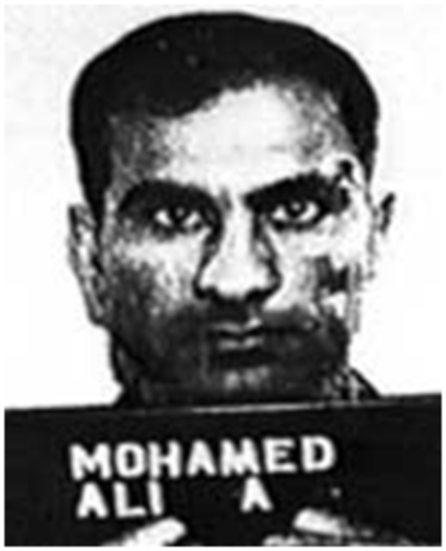 Photo of Ali Mohamed when booked