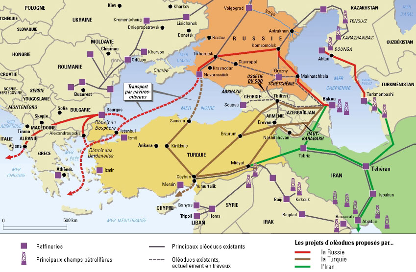1 existing and planned oil pipelines in the black and caspian sea region httpjapanfocus