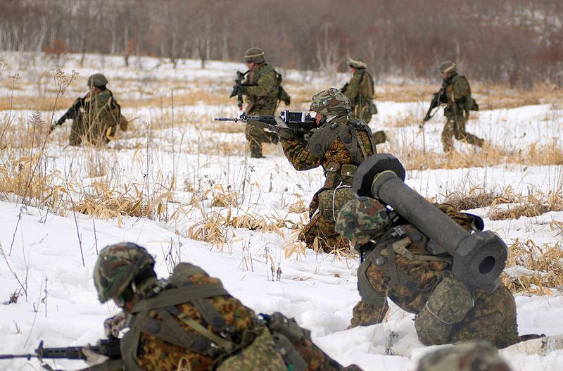 Figure 4: Joint US-SDF military training conducted in Hokkaido (Yausubetsu, 2008)