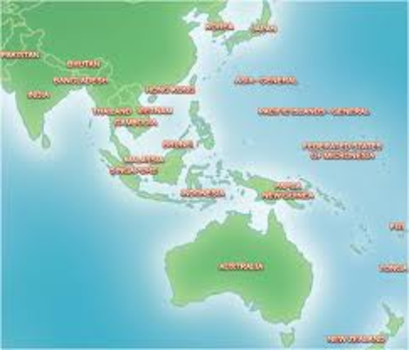 Map Of Australia Japan