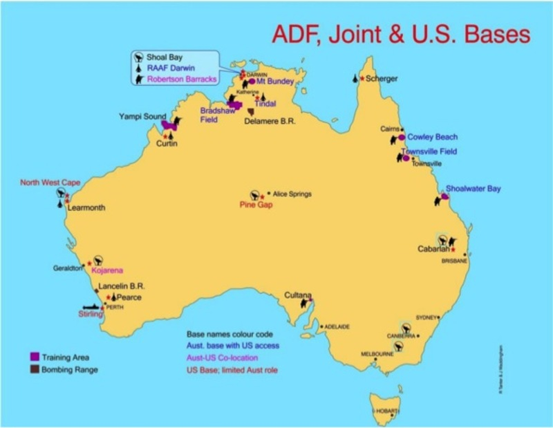 Map Of Australia And Usa.The Us Pivot To Asia The China Specter And The Australian